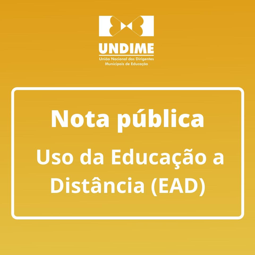 Nota pública - Uso da Educação a Distância (EAD)