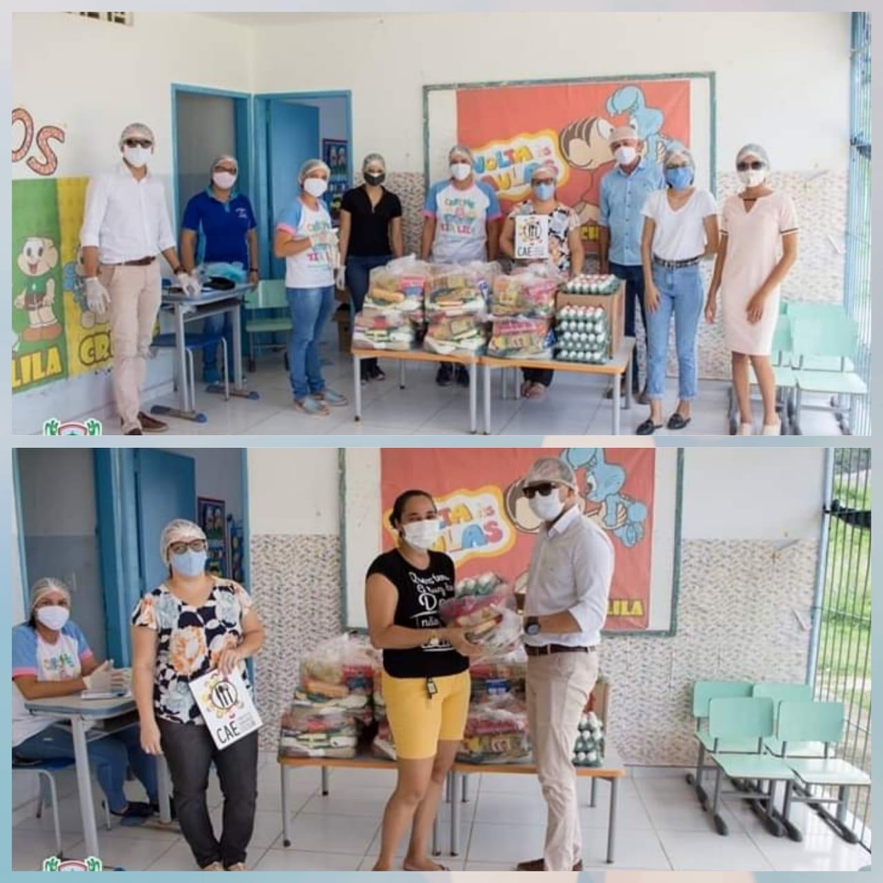 Prefeitura de Belém de Maria realizou a Distribuição de Cestas Básicas as famílias dos estudantes matriculados na Rede Municipal de Ensino.