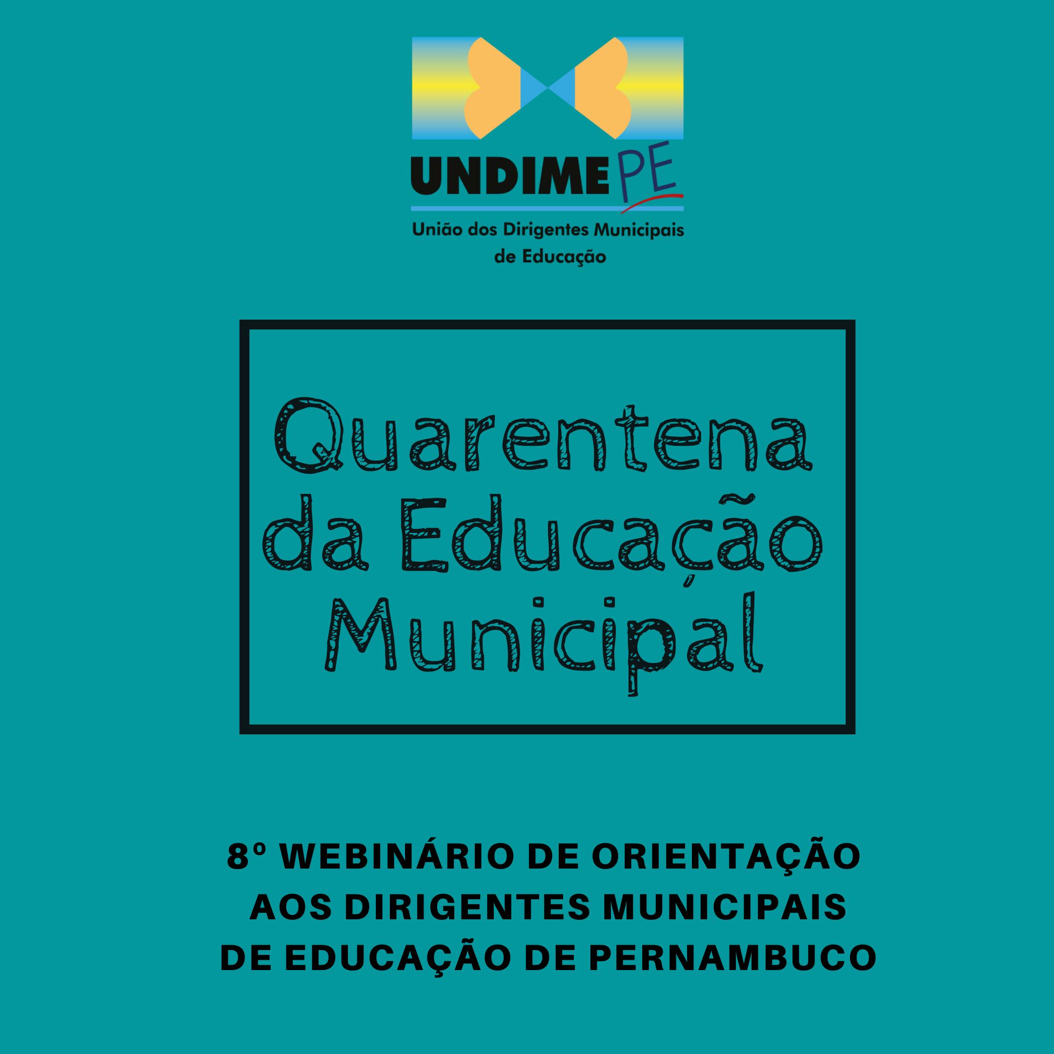 Está disponível a apresentação da 8ª Quarentena da Educação Municipal