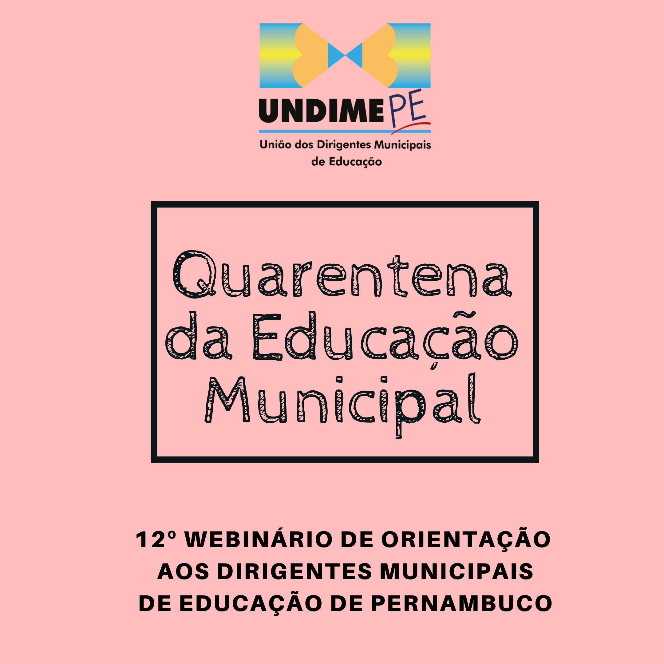 Educação Infantil voltou a ser tema da 12ª edição da Quarentena Municipal da Educação