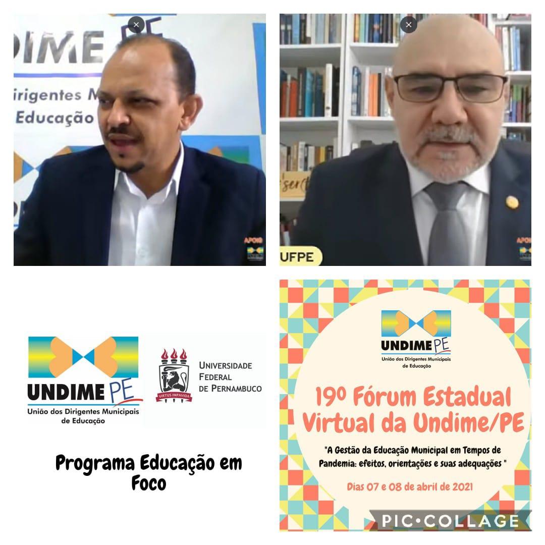 Undime/PE e UFPE celebram protocolo de intenções para o Programa Educação em Foco