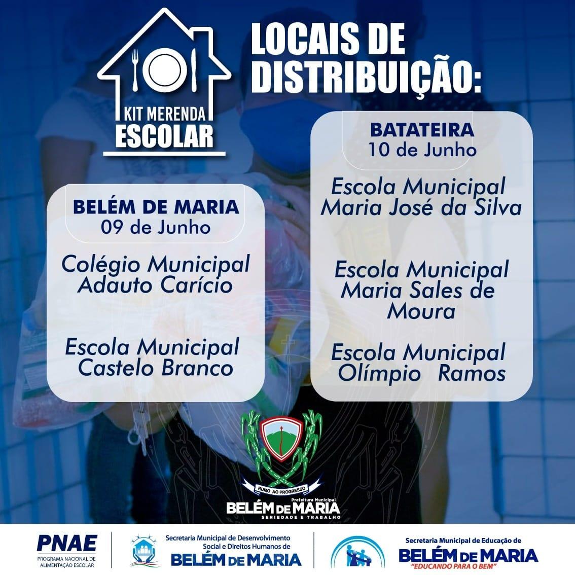 Município de Belém de Maria Realiza Oitava Distribuição de Kit's de Merenda Escolar