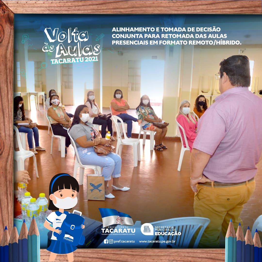 Secretaria Municipal de Educação de Tacaratu promove reunião de alinhamento para retomada as aulas