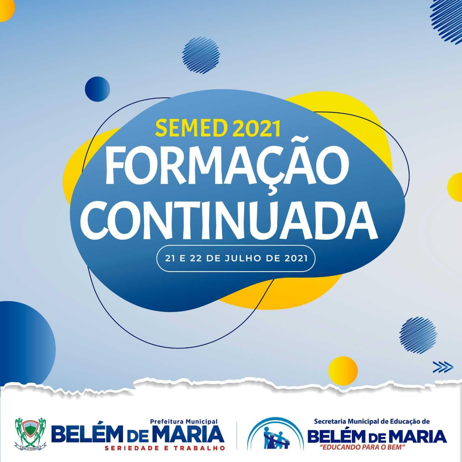 MUNICÍPIO DE BELÉM DE MARIA REALIZA FORMAÇÃO CONTINUADA PARA OS PROFESSORES DA REDE MUNICIPAL DE ENSINO