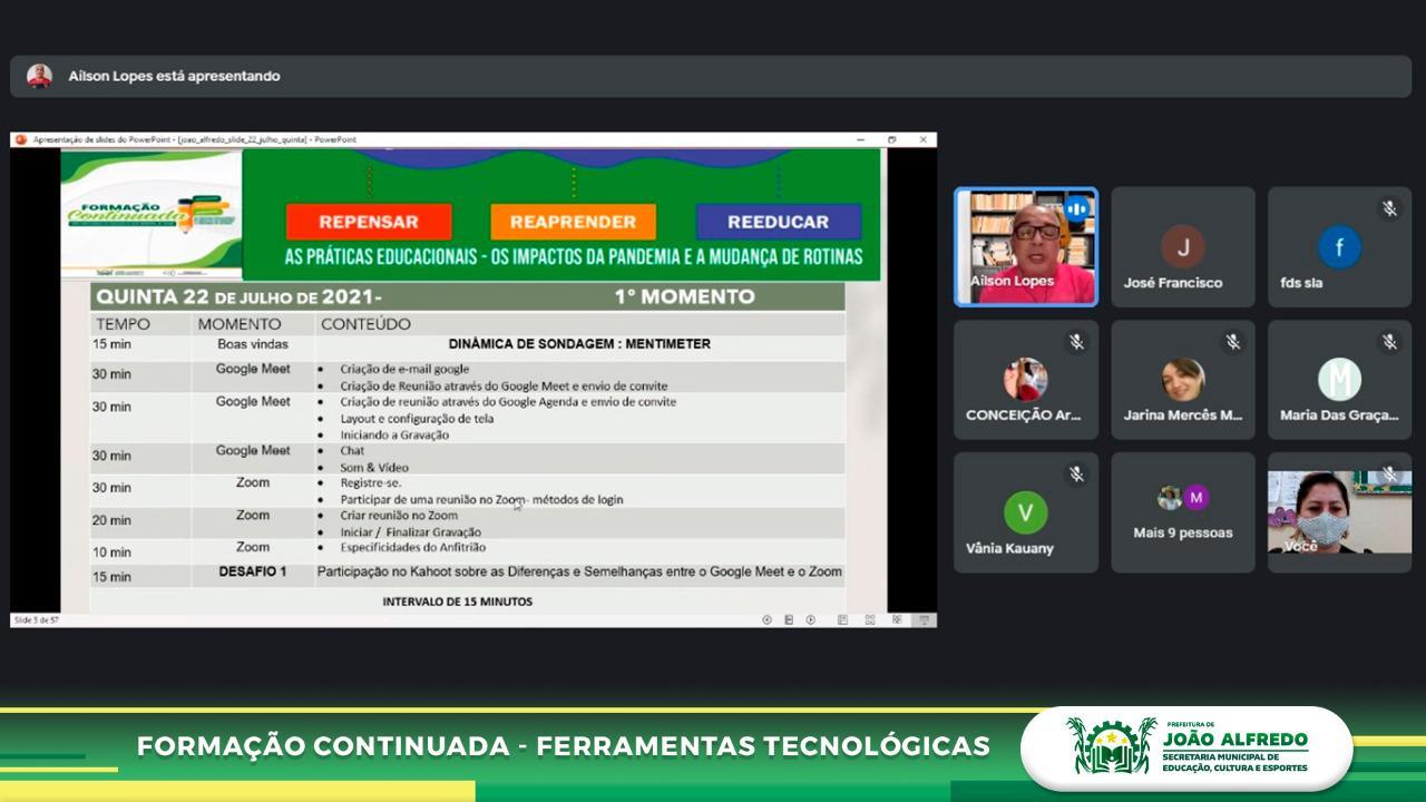 Secretaria de Educação de João Alfredo realiza formação continuada para professores