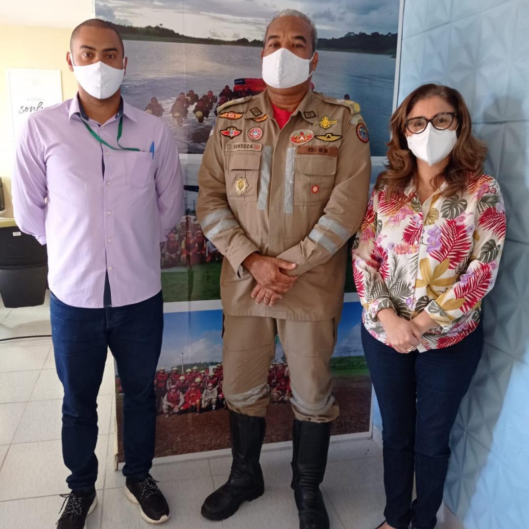 SECRETARIA DE EDUCAÇÃO DOS PALMARES FECHA PARCERIA COM BATALHÃO DO CORPO DE BOMBEIROS
