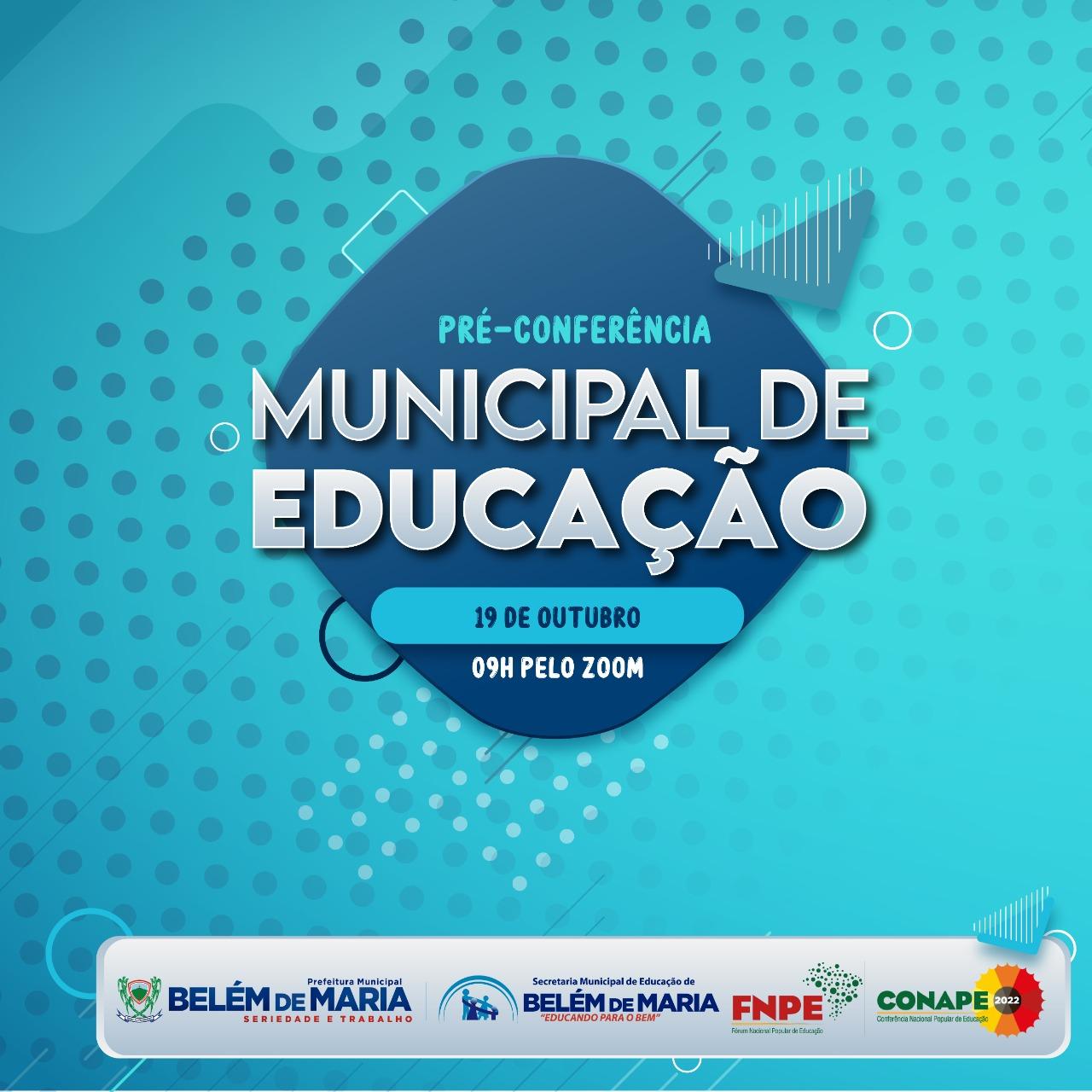 MUNICIPIO DE BELÉM DE MARIA REALIZA PRÉ - CONFERÊNCIA MUNICIPAL DE EDUCAÇÃO